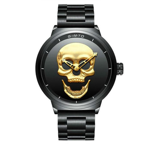 Punk'd - The Skull Watch - Cherry & Oak