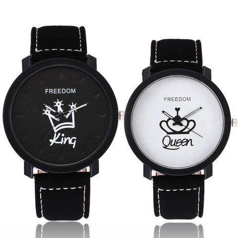 Couple's Freedom Watch (King/Queen) - Cherry & Oak