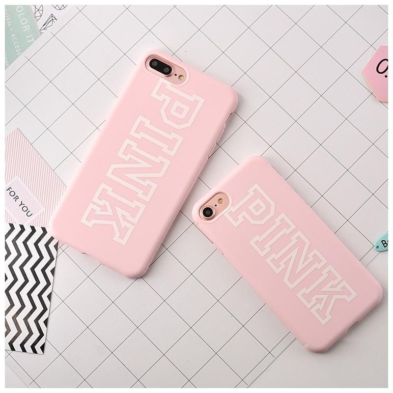 PINK Silicone iPhone Case