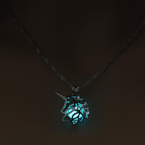 Glow in the Dark Unicorn Necklace - Cherry & Oak