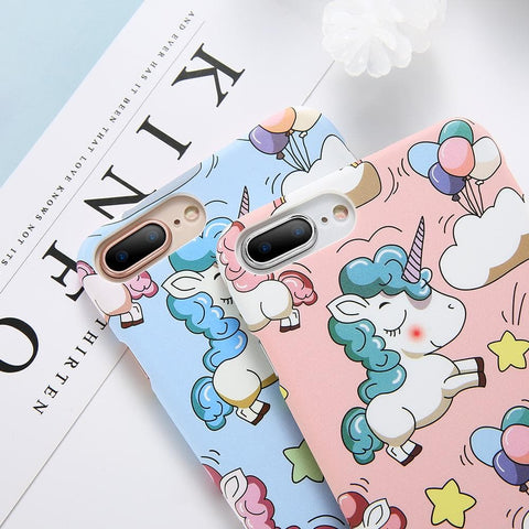Super Cute Unicorn iPhone Cover - Cherry & Oak