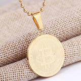 Limited Edition Bitcoin Necklace (Gold/Silver) - Cherry & Oak