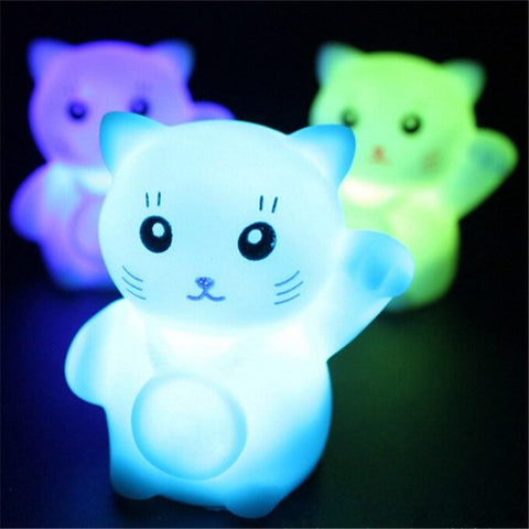 Glowing Fortune Cat - Cherry & Oak
