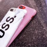Boss & Queen Marble iPhone Case - Cherry & Oak