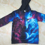 Galaxy Blue Wolf Hoodie - Cherry & Oak