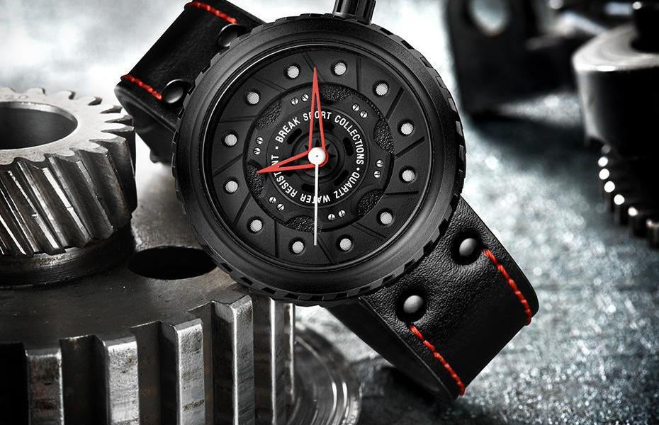 Limited Edition Autosports™ Watch (Black/Silver) - Cherry & Oak