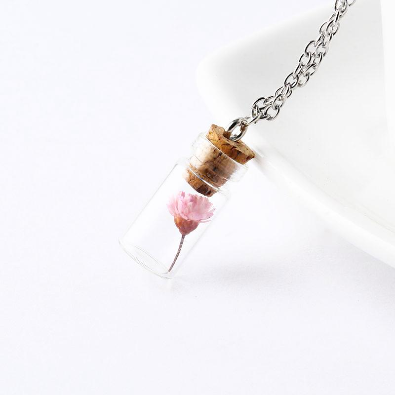 Flower in a Bottle Necklace