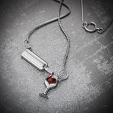 Red Wine Crystal Necklace - Cherry & Oak