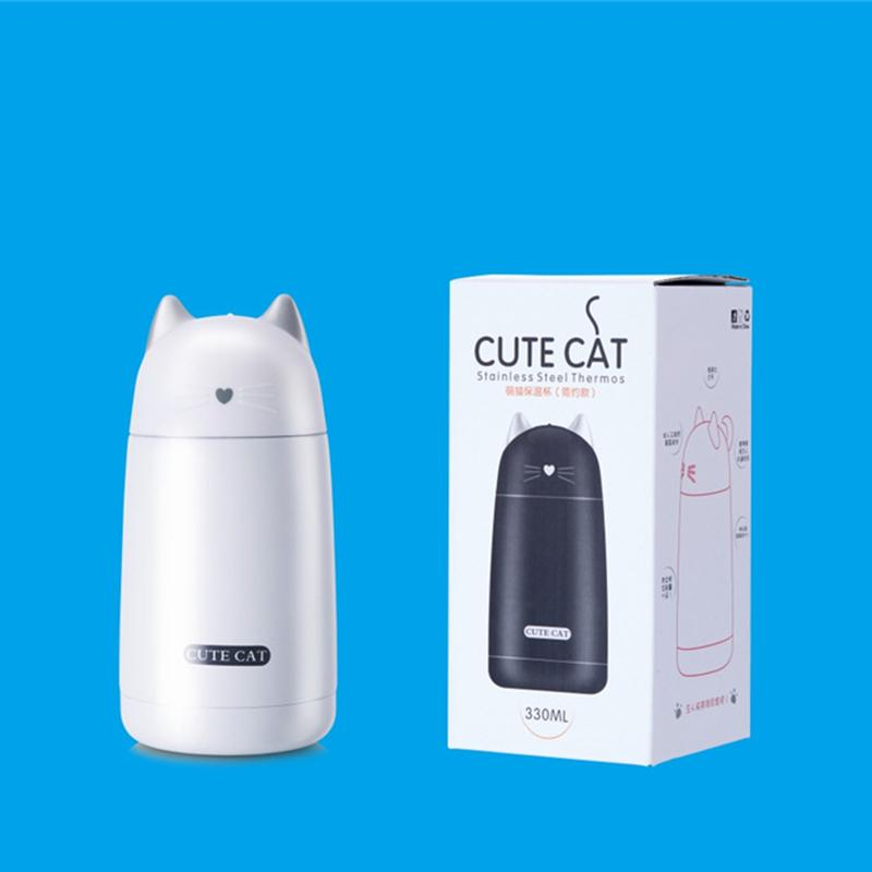 Cute Cat Stainless Steel Thermos (4Colors)