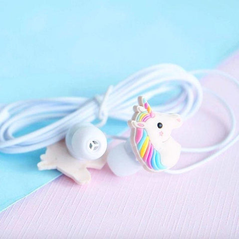 Unicorn Earphones - Cherry & Oak