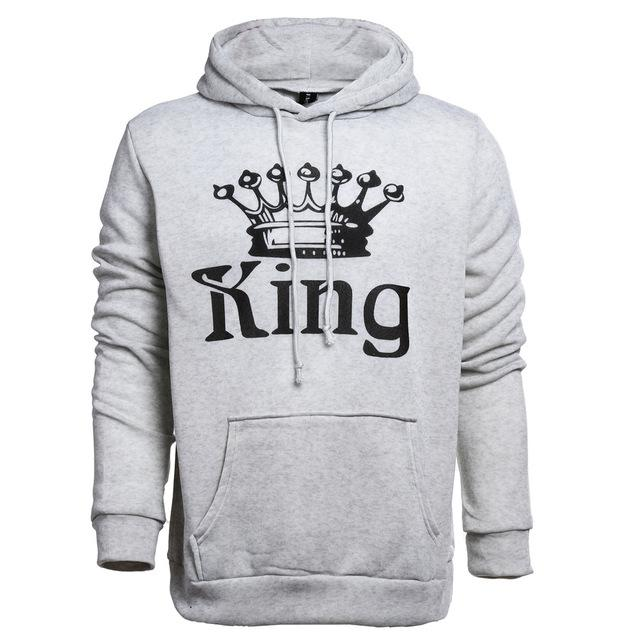 King & Queen Couple Hoodie - Cherry & Oak