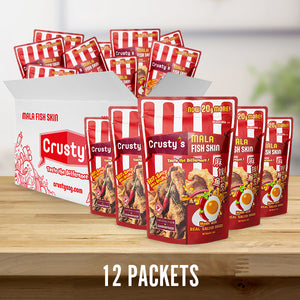 Crusty's Mala Hotpot w Salted Egg Fish Skin X 12 PACKETS (DELIVERY WITHIN SINGAPORE ONLY)