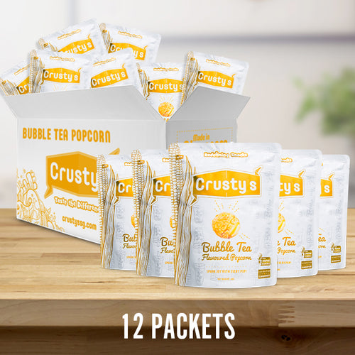 Crusty's Bubble Tea Flavoured Popcorn X 12 PACKETS (DELIVERY WITHIN SINGAPORE ONLY)