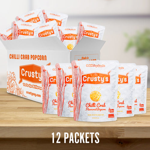 Crusty's Chilli Crab Flavoured Popcorn X 12 PACKETS (DELIVERY WITHIN SINGAPORE ONLY)