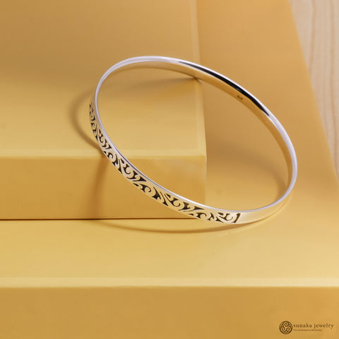 Gergajian Bangle Bracelets in Sterling Silver