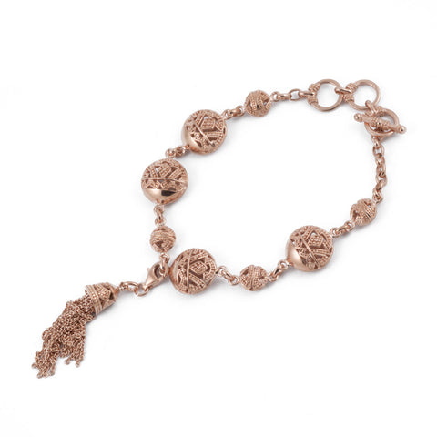Songket Rose Gold Plated Chain Bracelet