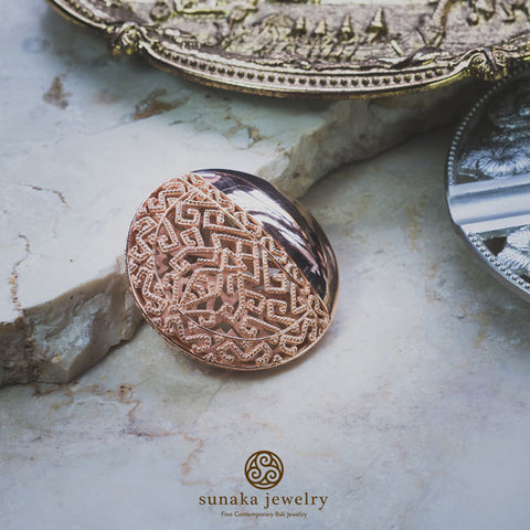 Songket Rose Gold Plated Brooch