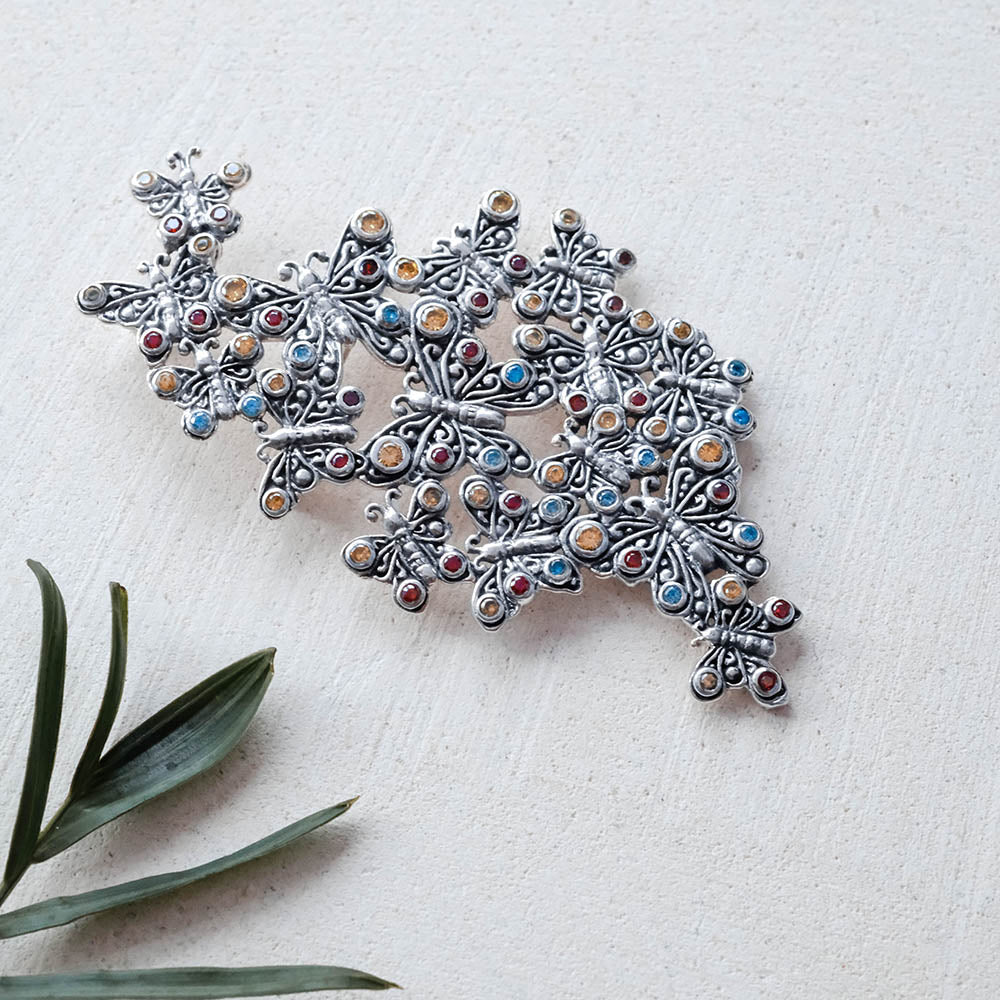 Kupu - Kupu Collection Brooch in Sterling Silver