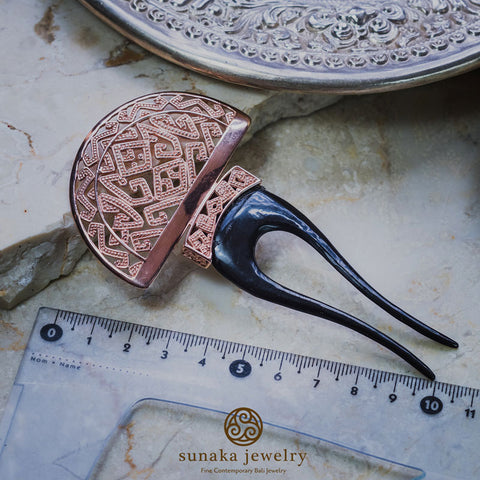 Songket Rose Gold Plated Hairpiece
