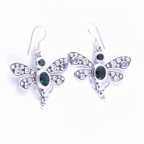 Capung Bali Silver Dangle Earrings