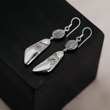 Batik Indonesia Silver Dangle Earring