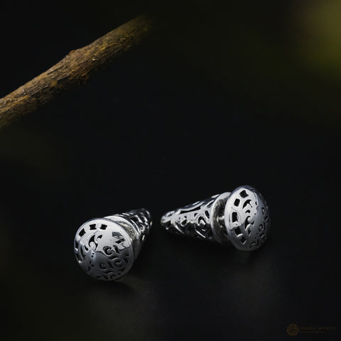 Bhinneka Traditional Earrings in Sterling Silver (circle)