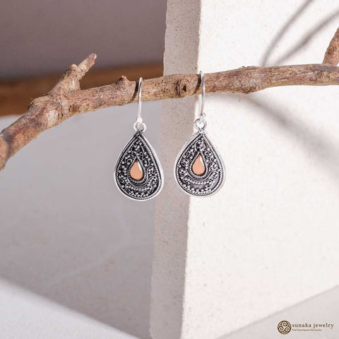Emas Perak Dangle Earrings in Sterling Silver