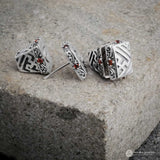 Patra Emas Silver Balinese Stud Earrings