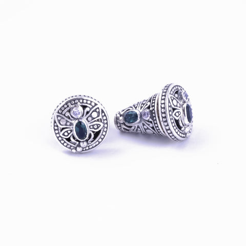 Capung Bali Traditional Balinese Earrings in Sterling Silver (small)