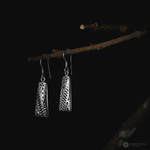 Bhinneka Dangle Earrings in Sterling Silver