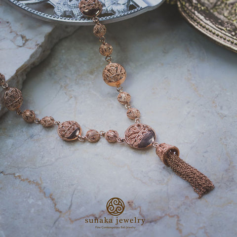 Songket Rose Gold Plated Necklace