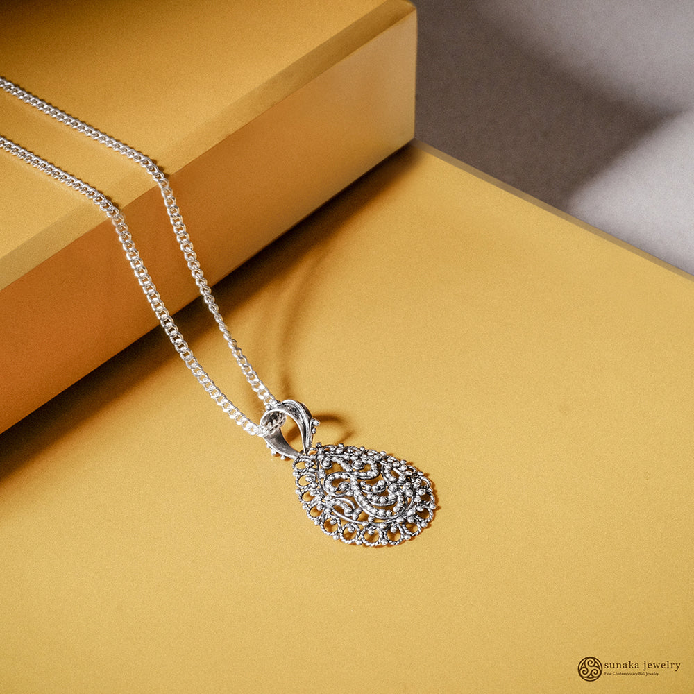 Bun Jawan Trawangan Pendant in Sterling Silver (Pendant only without chain)