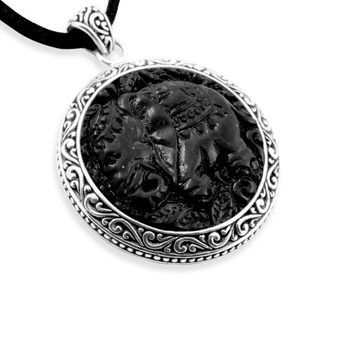 Gajah Collection Pendant (Without Chain or Rope) in Sterling Silver
