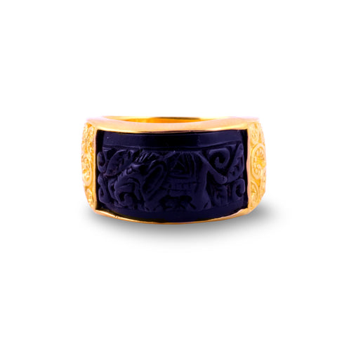 Elephant Collection Gold Plated Band Ring