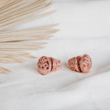 Balinese Mini Subeng Songket Rose Gold Plated Earrings
