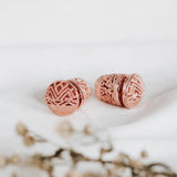 Balinese Subeng Songket Rose Gold Plated Earrings