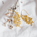 Silver Earrings Capung Collection Gold Plated