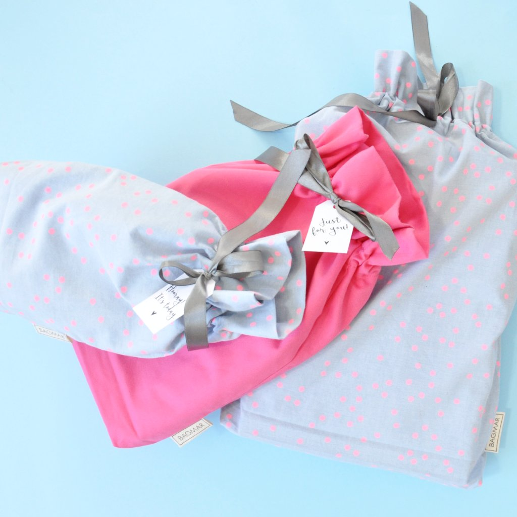 Gift bags | 3-pack light blue and pink
