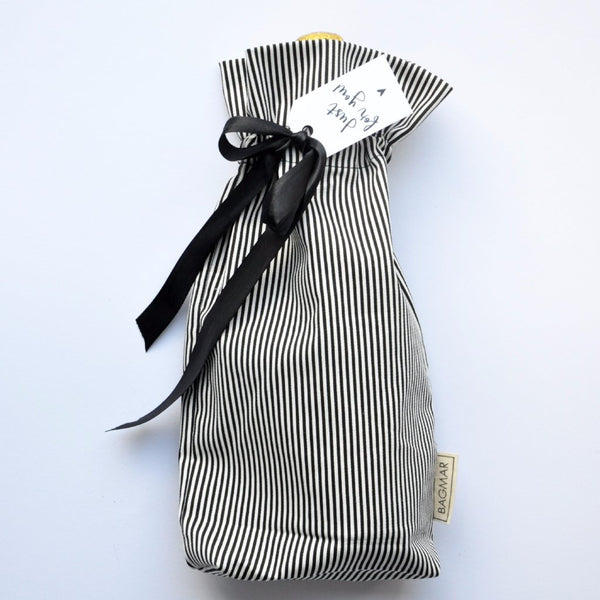 Gift bag | black and white striped