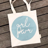 Tote bag | Girl power mint green