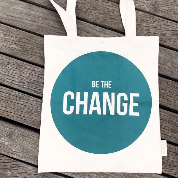 Tote bag | Be the change green