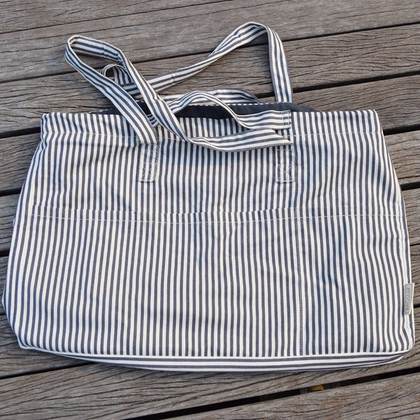 Beach bag & large tote bag striped | Bagmar
