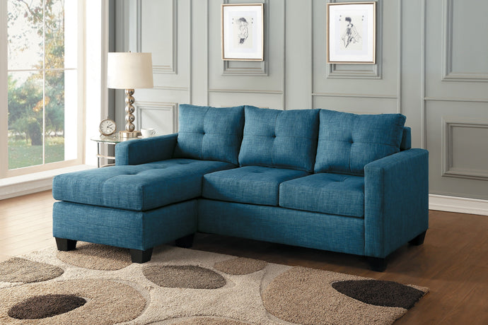 [SPECIAL] Phelps Blue Reversible Sofa Chaise | 9789