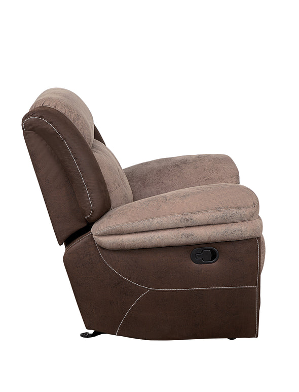Chai Brown Microfiber Reclining Living Room Set - Luna Furniture