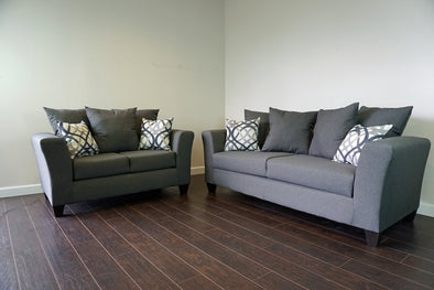 [HOT DEAL] Elgin Gray Sofa & Loveseat