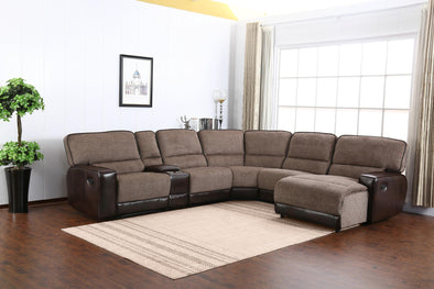 Siena Brown RAF Reclining Sectional - Luna Furniture