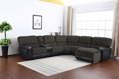 Siena Gray RAF Reclining Sectional - Luna Furniture