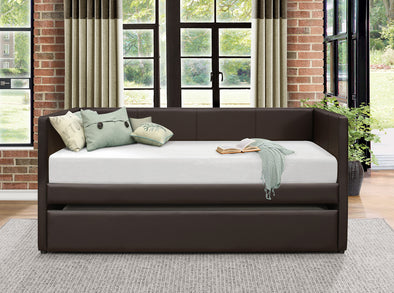 Adra Dark Brown Daybed with Trundle | 4949