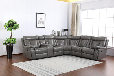 Simon Gray Reclining Sectional - Luna Furniture