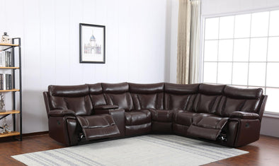 Simon Brown Reclining Sectional - Luna Furniture